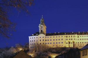 Heidecksburg bei Nacht